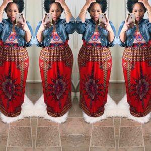Dresses & Skirts - 💮💮 Red Ethnic Print Strapless Dress 💮💮